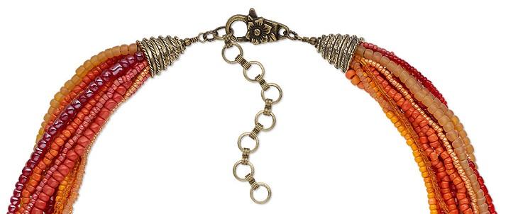 Многорядный браслет с конусом