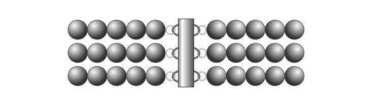 Схема украшения с многорядной застежкой